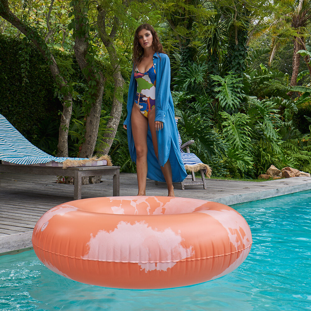 The Nice Fleet - Extra Large Inflatable Ring - Goa Coral