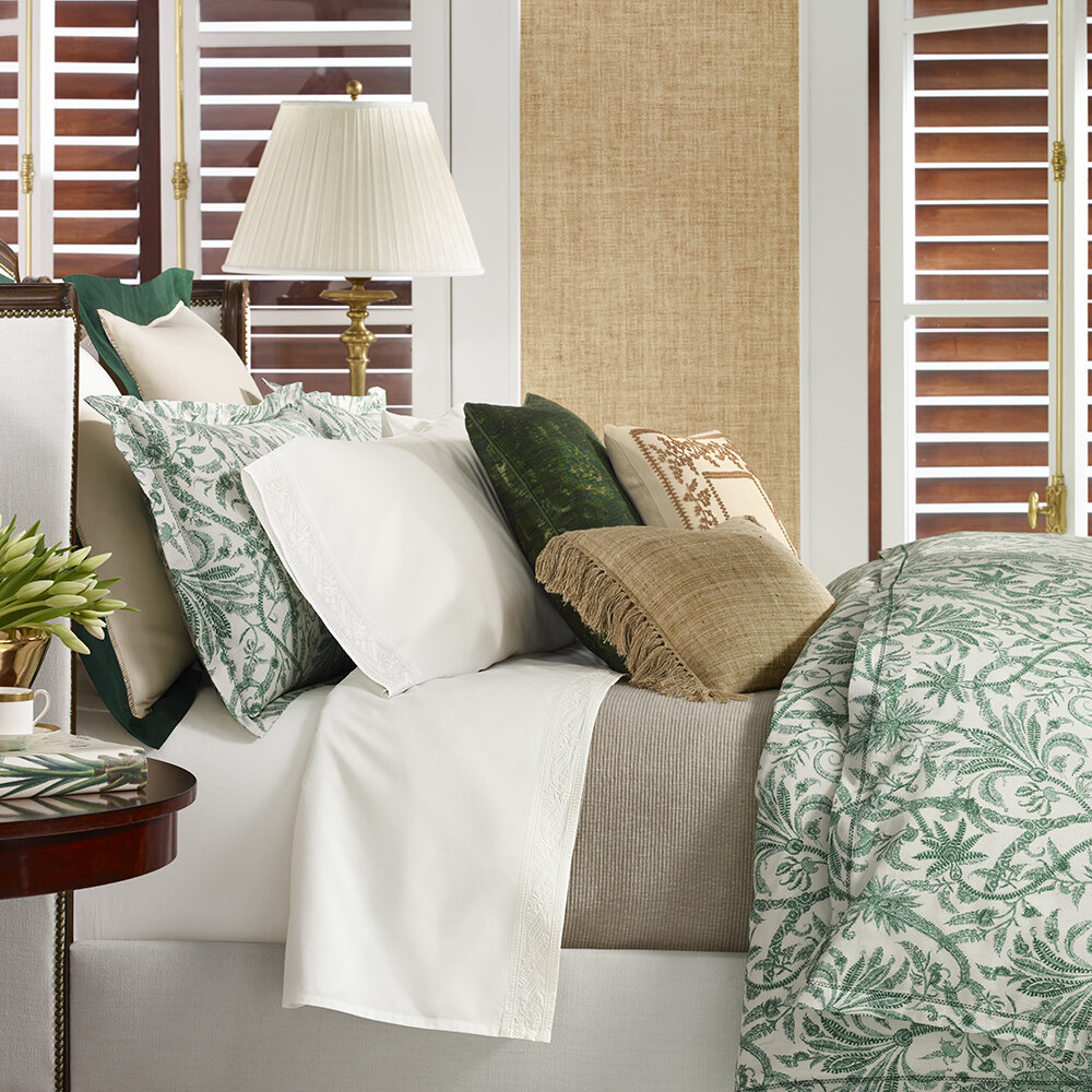 Ralph Lauren Home - Charleston Bettbezug - Preslie-Grün - Super King