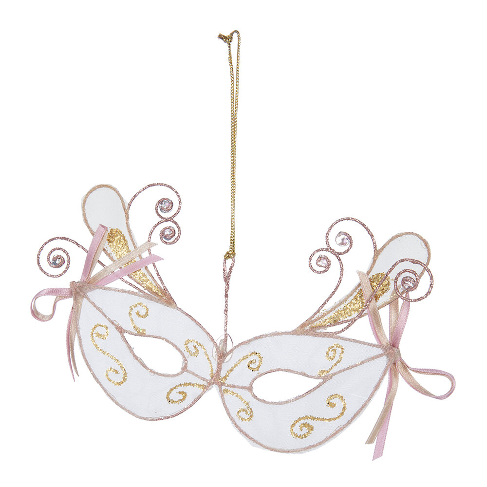 A by AMARA Christmas - Wire Mask Tree Decoration - Set of 3