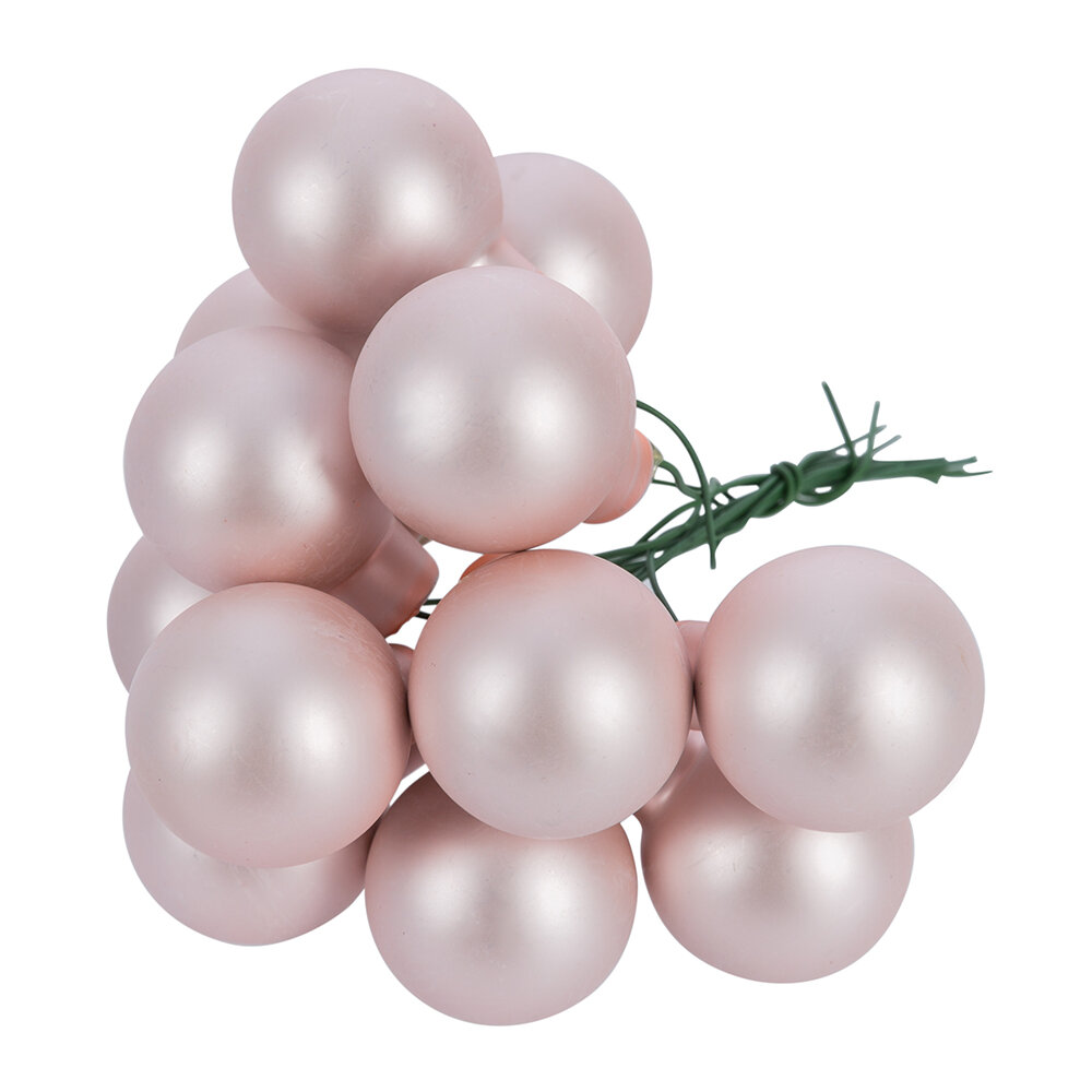 Image of A by AMARA Christmas - Bauble Cluster Tree Decorationet of 12 - Pink