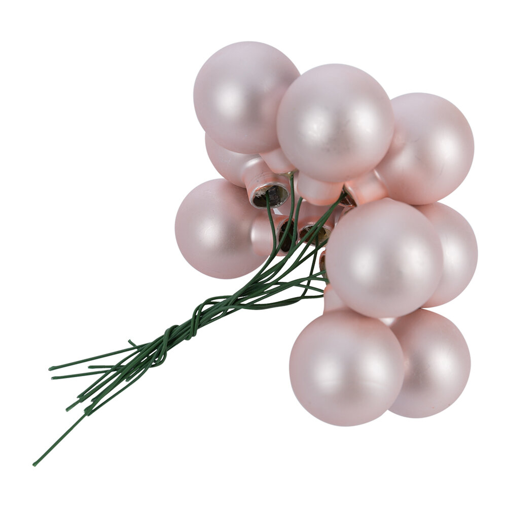 A by AMARA - Bauble Cluster Tree Decoration - Set of 12 - Pink