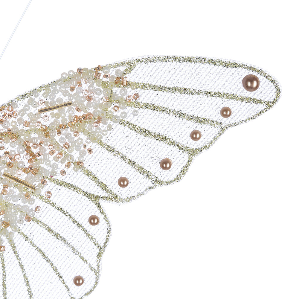 A by AMARA - Bead Butterfly Clip Decoration - Set of 3