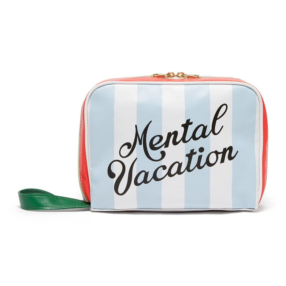 ban.do - Getaway Leatherette Toiletry Bag - Mental Vacation