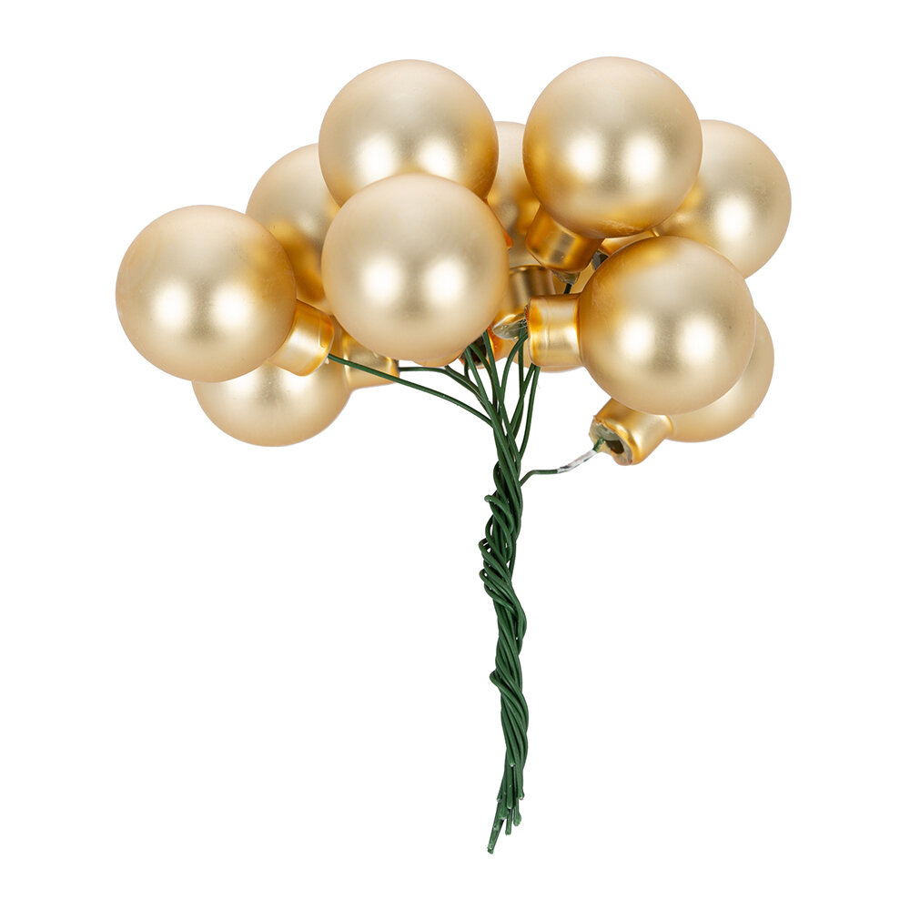 A by AMARA Christmas - Bauble Cluster Tree Decoration - Set of 12 - Gold