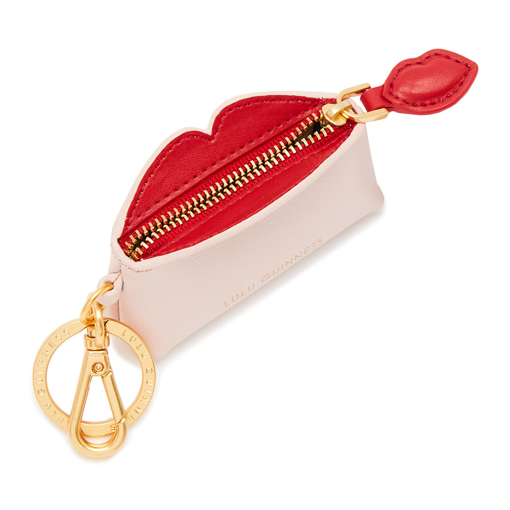 Lulu Guinness - Peekoboo Lip Colette Keyring - Blush/Red