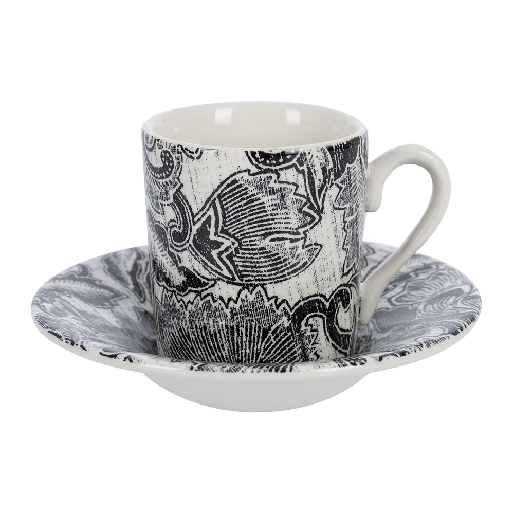 Ralph Lauren Home - Faded Peony Espresso Cup and Saucer - Bl