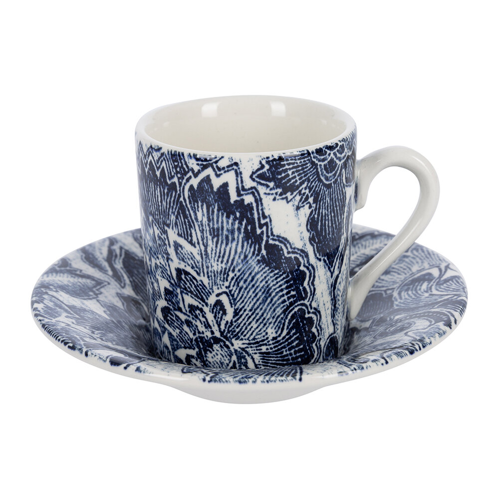 Ralph Lauren Home - Faded Peony Espresso Cup and Saucer - In