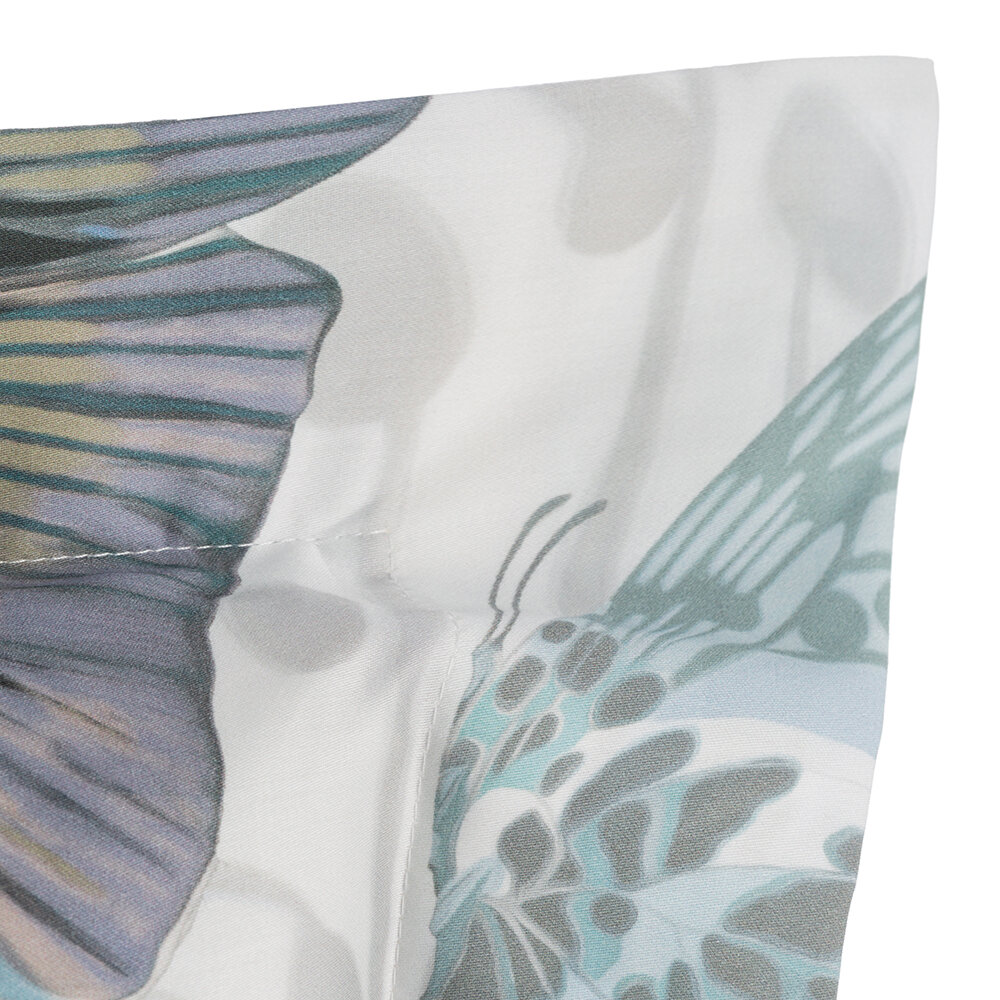 Roberto Cavalli - Fading Butterflies Bed Set - Aqua - Super King