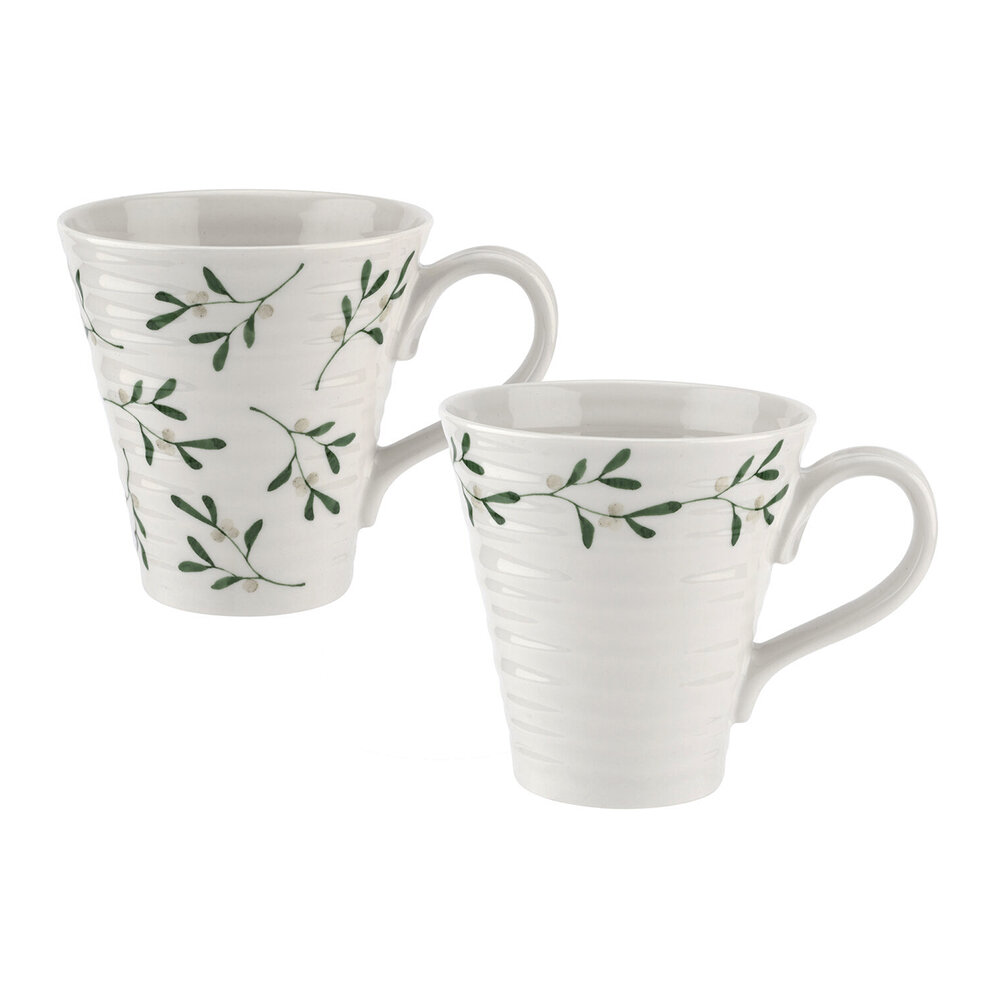 Sophie Conran - Ceramic Mistletoe Mug - Set of 2