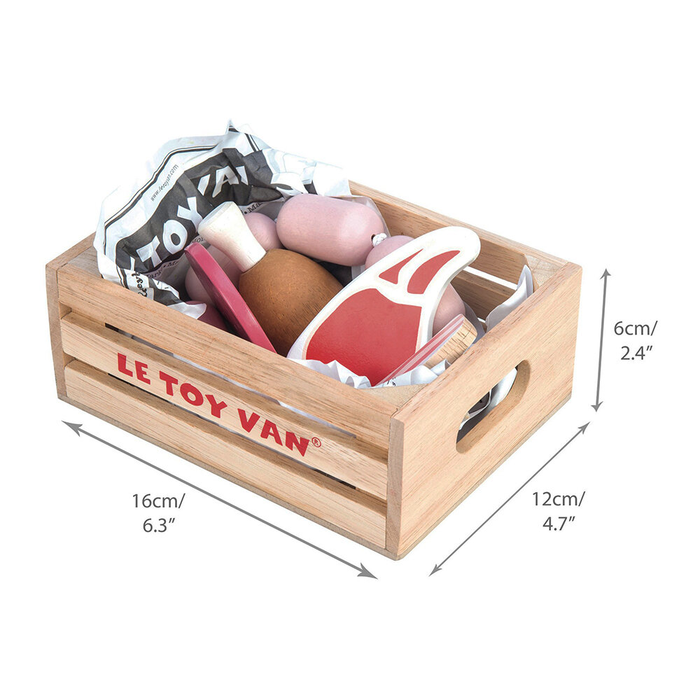 Le Toy Van - Market Meat Crate Wooden Toys