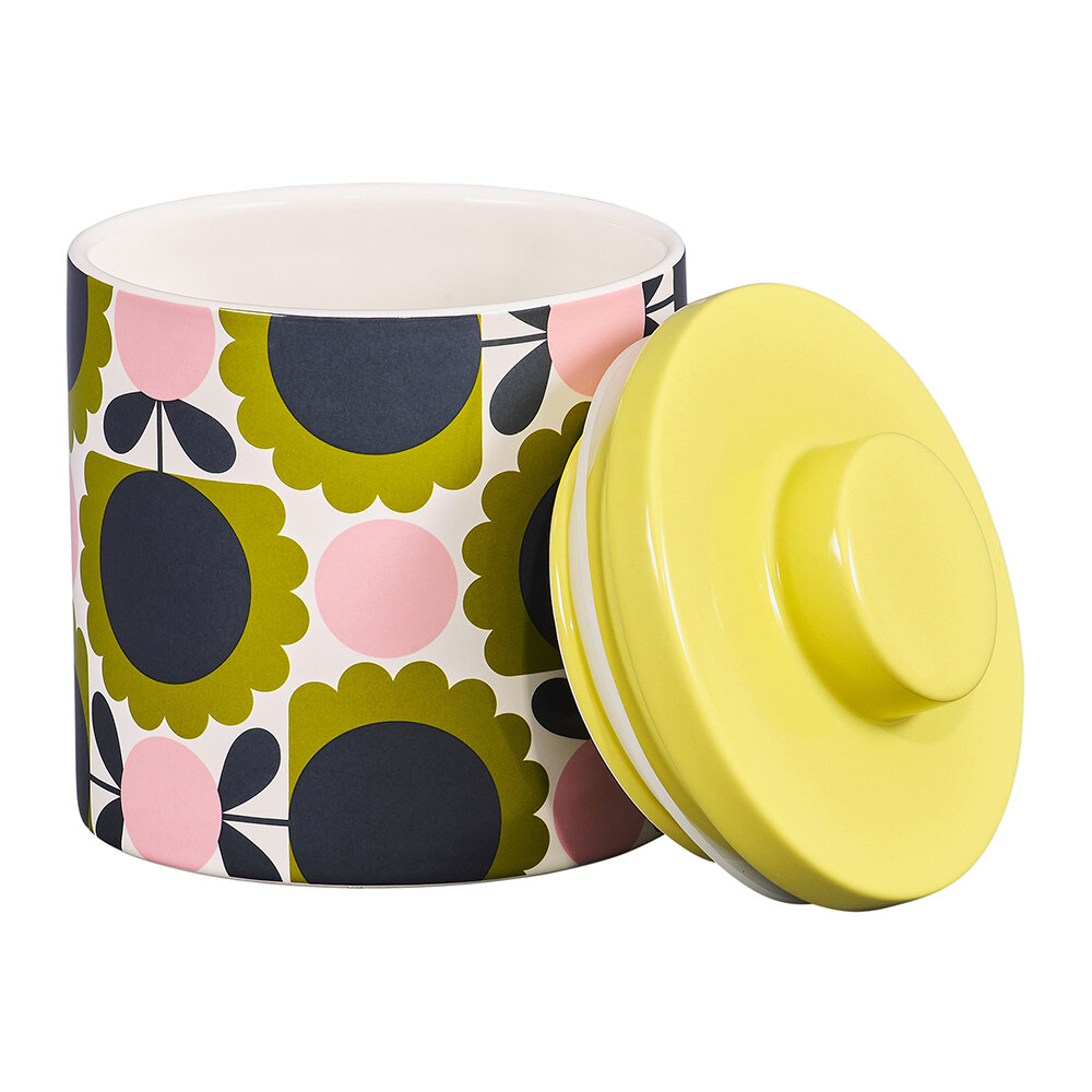 Orla Kiely - Storage Jar - Large - Scallop Flower Forest