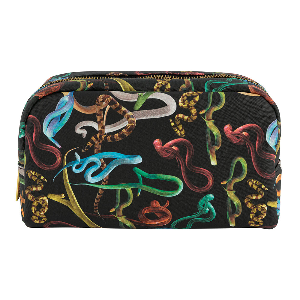 Seletti wears Toiletpaper - Large Cosmetics Bag - Snakes