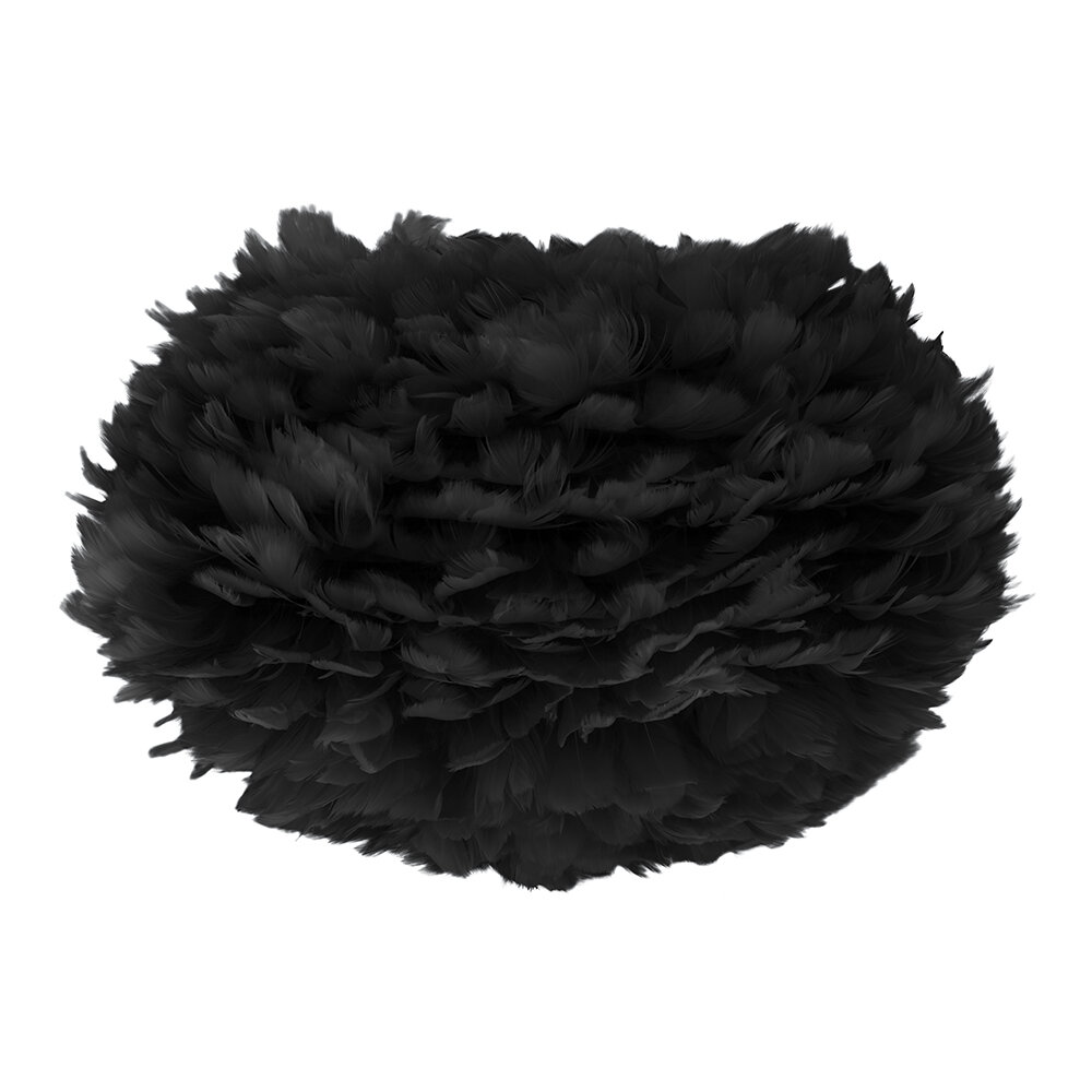 UMAGE - Limited Edition Eos Feather Lamp Shade - Black - Medium