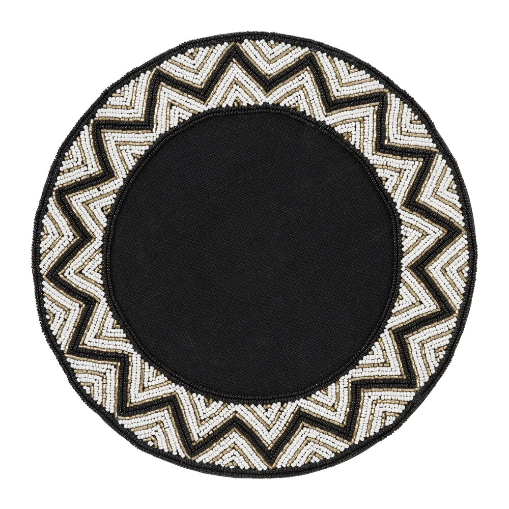 Image of A by AMARA - Addison Beaded Placematset of 2