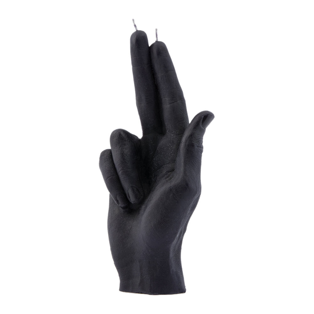 Candle Hands - 'Gun Fingers' Candle - Black
