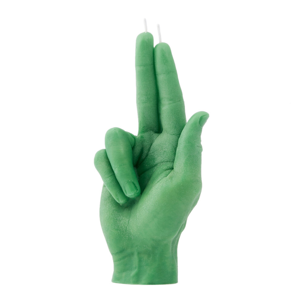 Candle Hands - 'Gun Fingers' Candle - Green