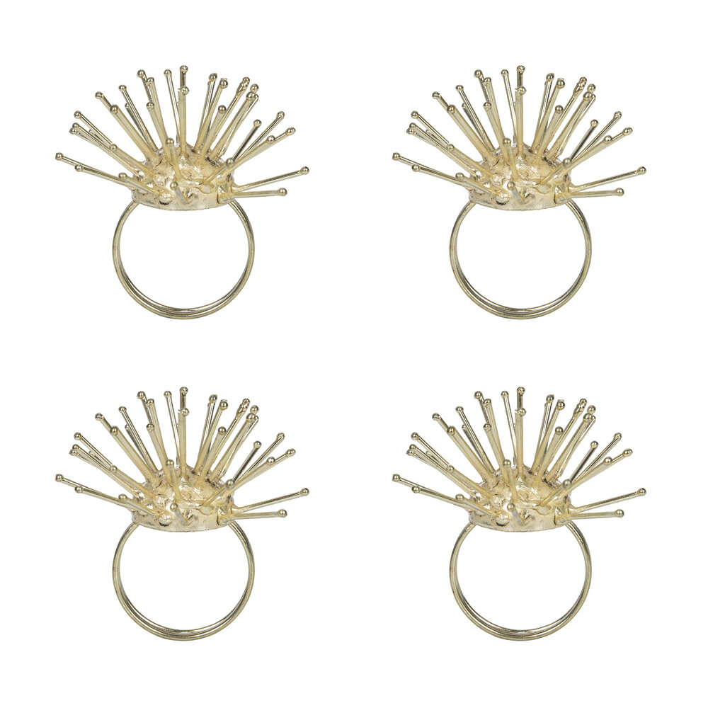 Luxe - Spikey Gold Napkin Rings - Set of 4