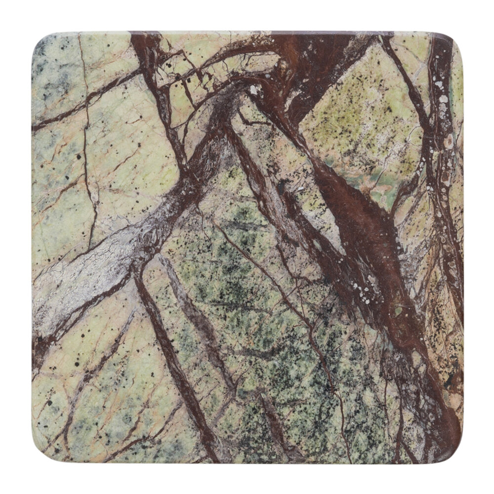 Retreat - Green Marble Coasters - Set of 4