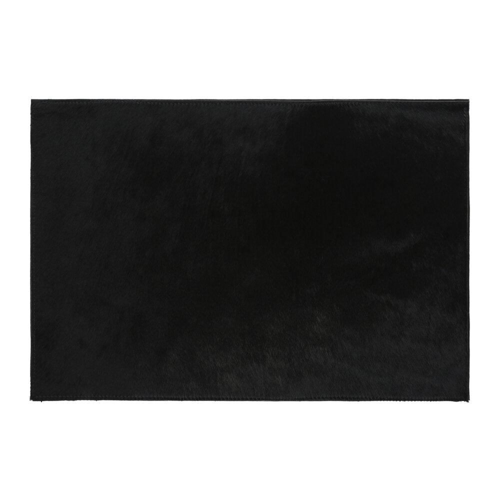 Image of A by AMARA - Cowhide Placematset of 2 - Black