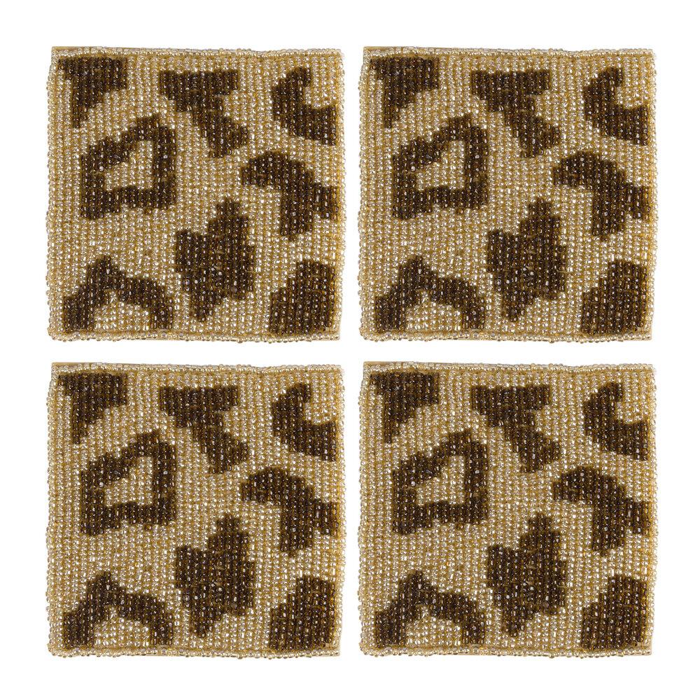 Global Explorer - Leopard Coaster - Set of 4