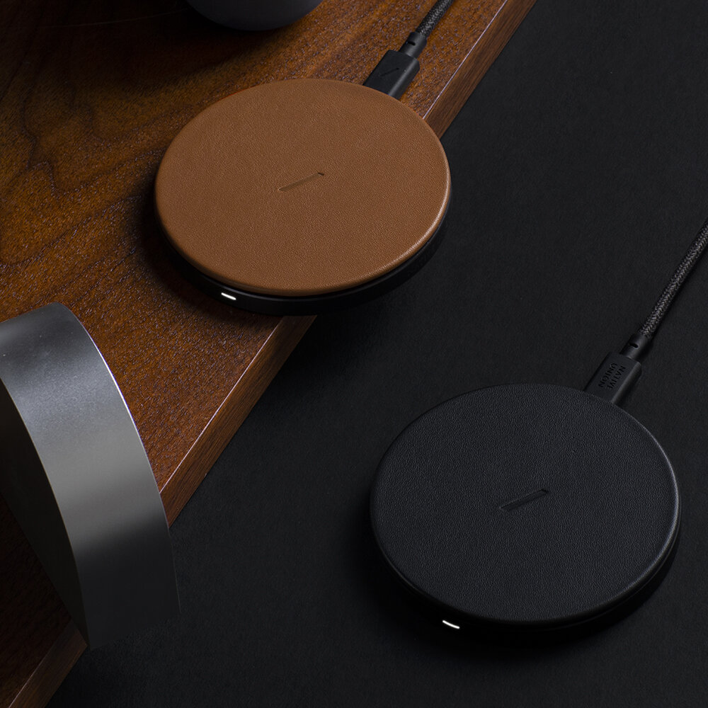Native Union - Drop Wireless Charger Pad - Black Leather