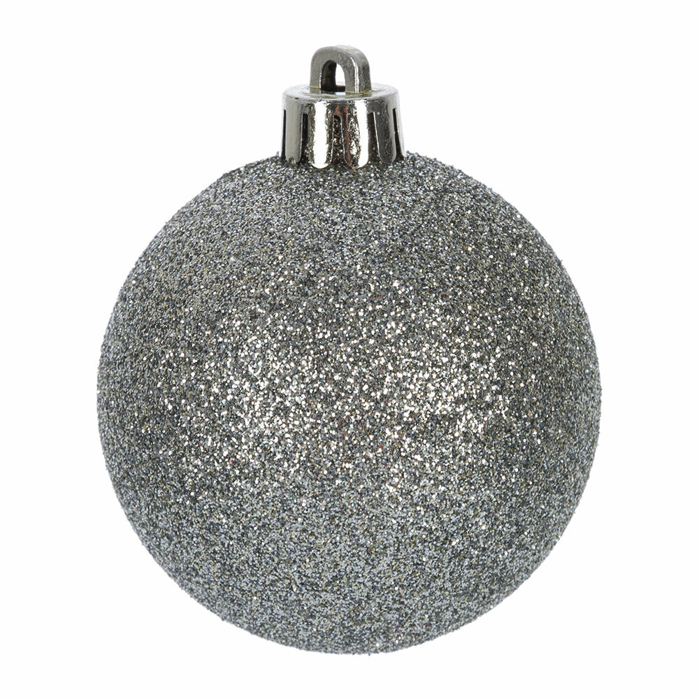 A by AMARA Christmas - Set of 30 Assorted Baubles - Misty Grey
