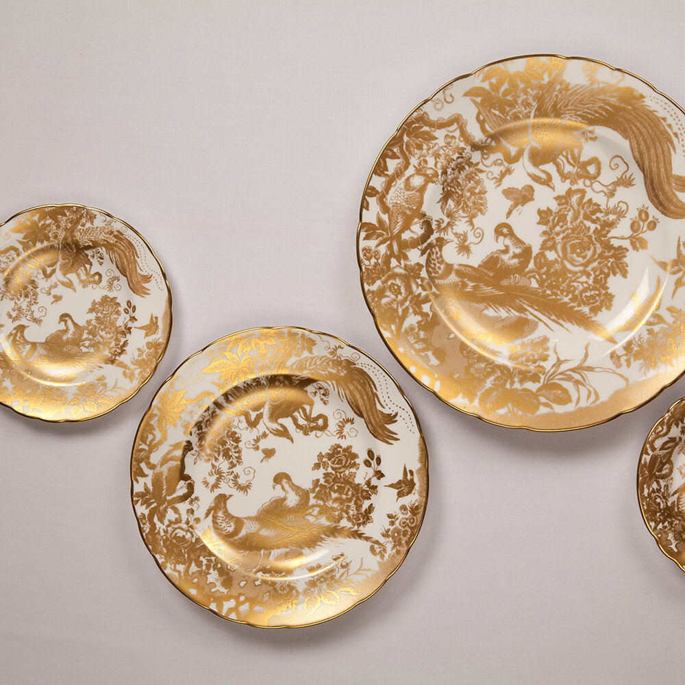 Royal Crown Derby - Aves Gold Bowl