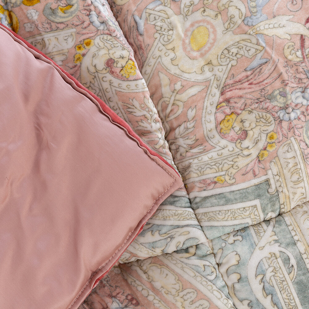 Etro - Arles Bizet Quilted Bedspread - 270x270cm - Pink