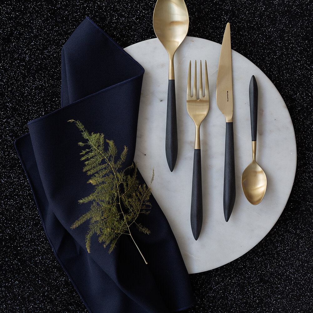 Casa Bugatti - Ares 4 Piece Flatware Set - Black Gold