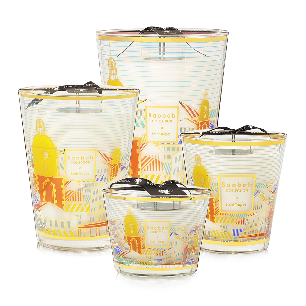 Baobab Collection - St Tropez Scented Candle - 16cm