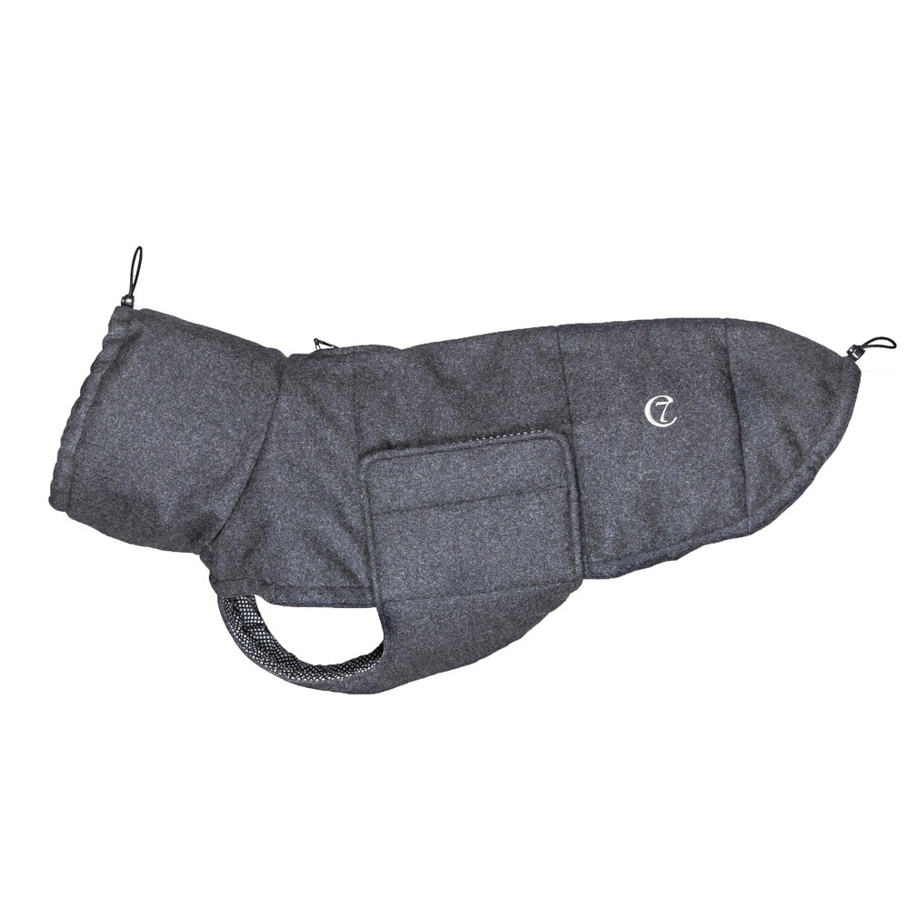 Cloud 7 - Windsor Flannel Dog Coat - Anthracite - Extra Small