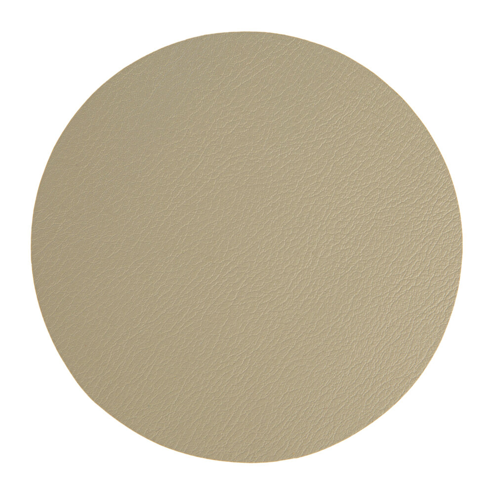 Essentials - Double Sided Vegan Leather Coasters - Set of 4 - Taupe