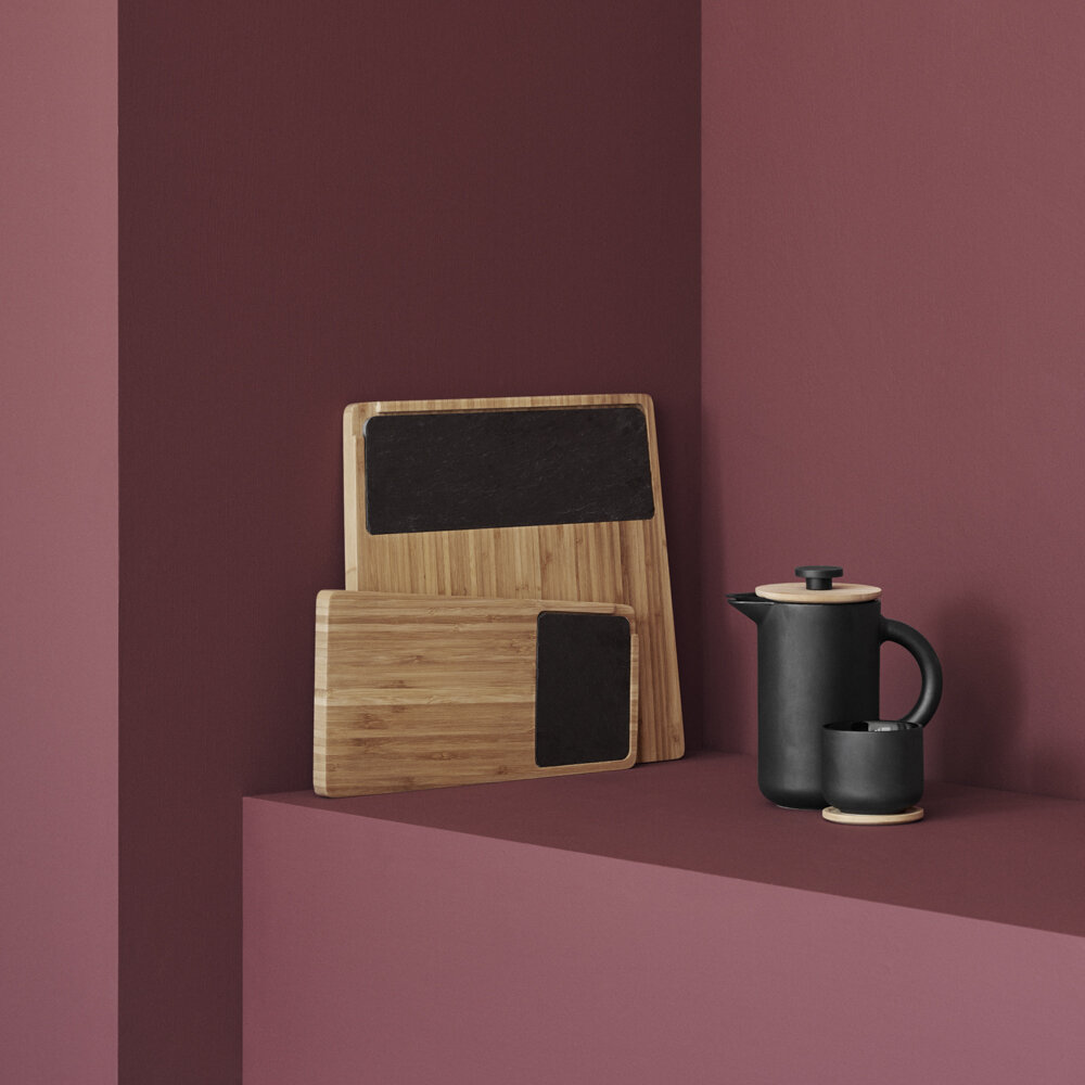 Stelton - Theo Teacup with Coaster - Anthracite