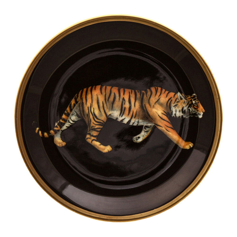 Halcyon Days - Magnificent Wildlife Coasters - Set of 4 - Tiger/Leopard