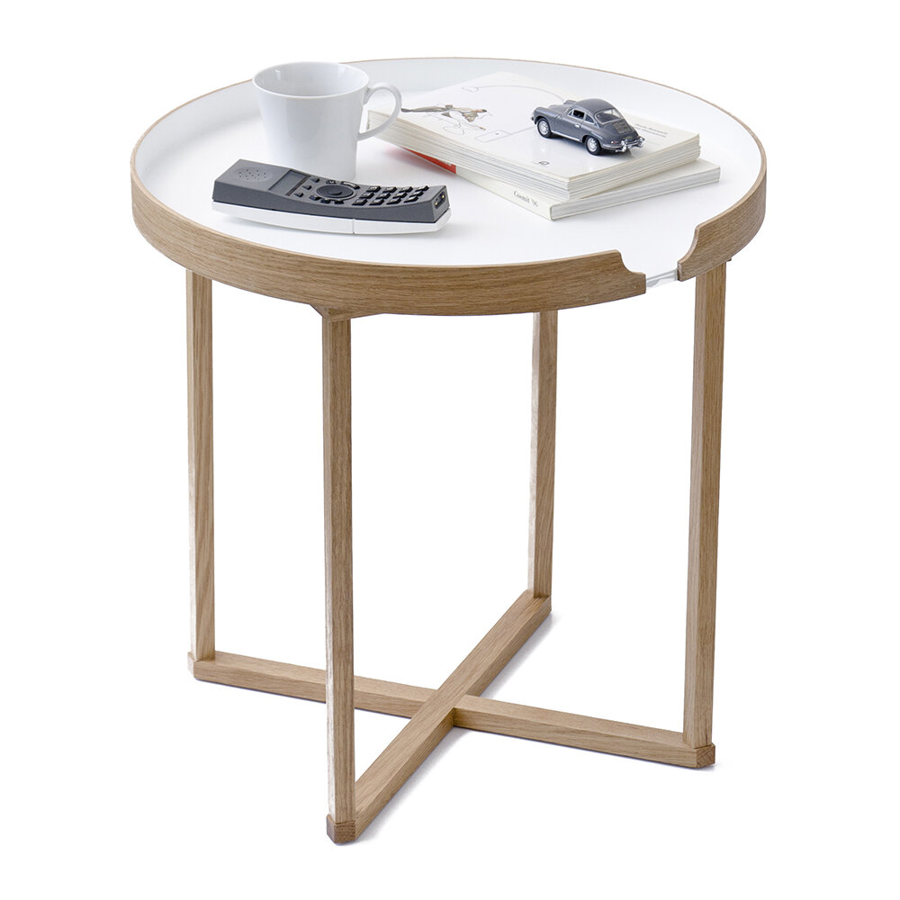 Wireworks - Damien Table Round - White/Oak