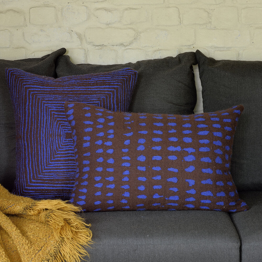 Ethnicraft - Brown Linear Square Cushion
