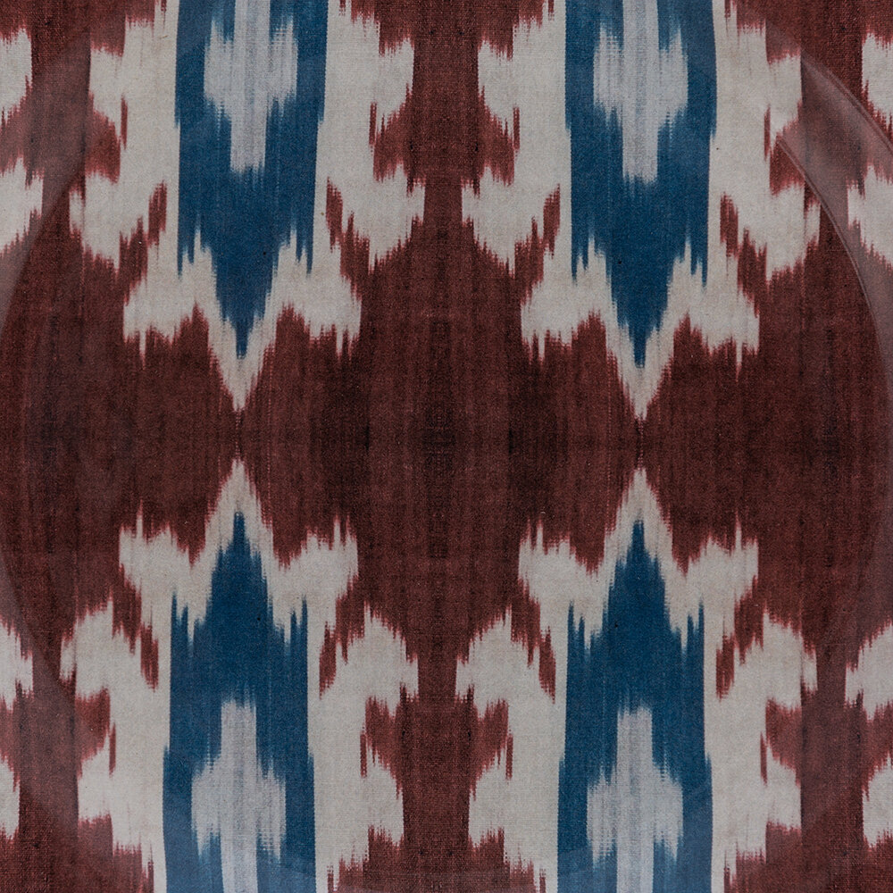Les Ottomans - Ceramic Ikat Side Plate - Red/Blue/White