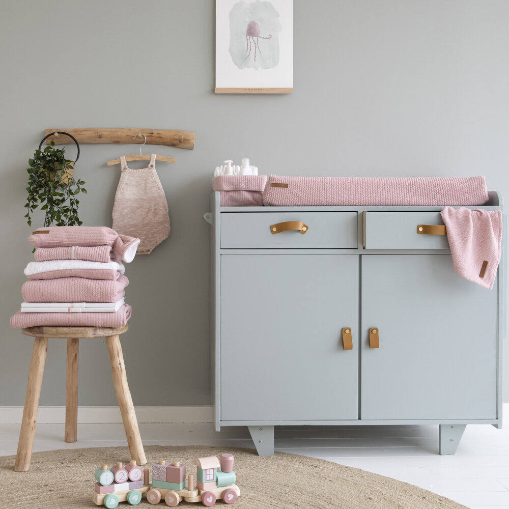 Little Dutch - Baby Swaddle - 70x70cm - Pure Pink/Grey