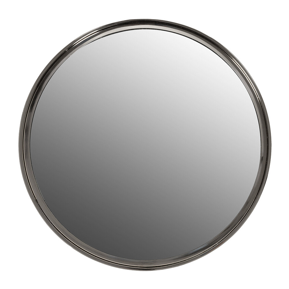 Luxe - Tapered Frame Round Mirror - Silver