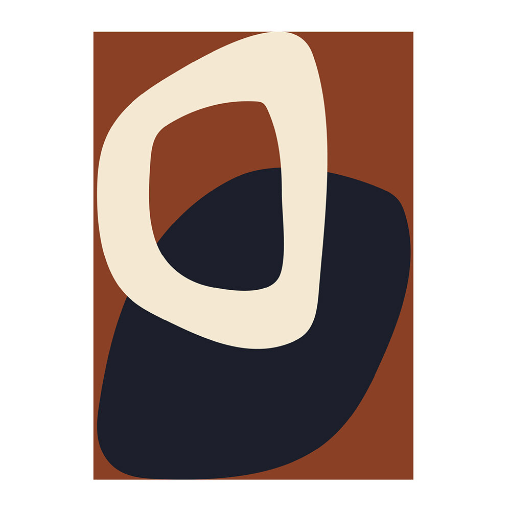Paper Collective - Solid Shapes Poster - Design 02