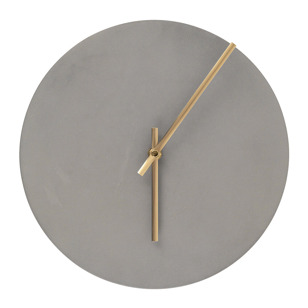 House Doctor - Watch Wall Clock - Concrete