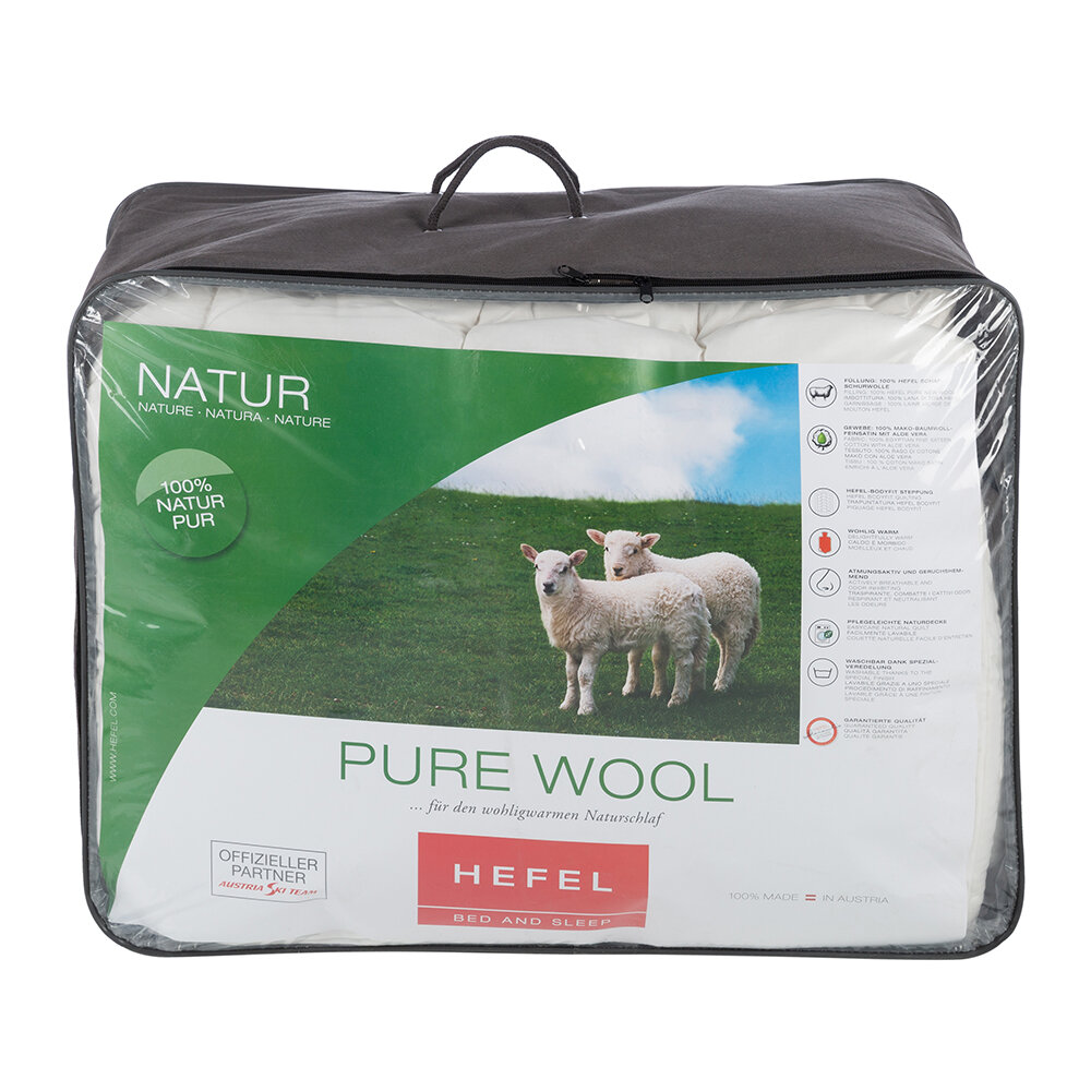 Hefel - Pure Wool All-Year Duvet - 10.5 Tog - Double