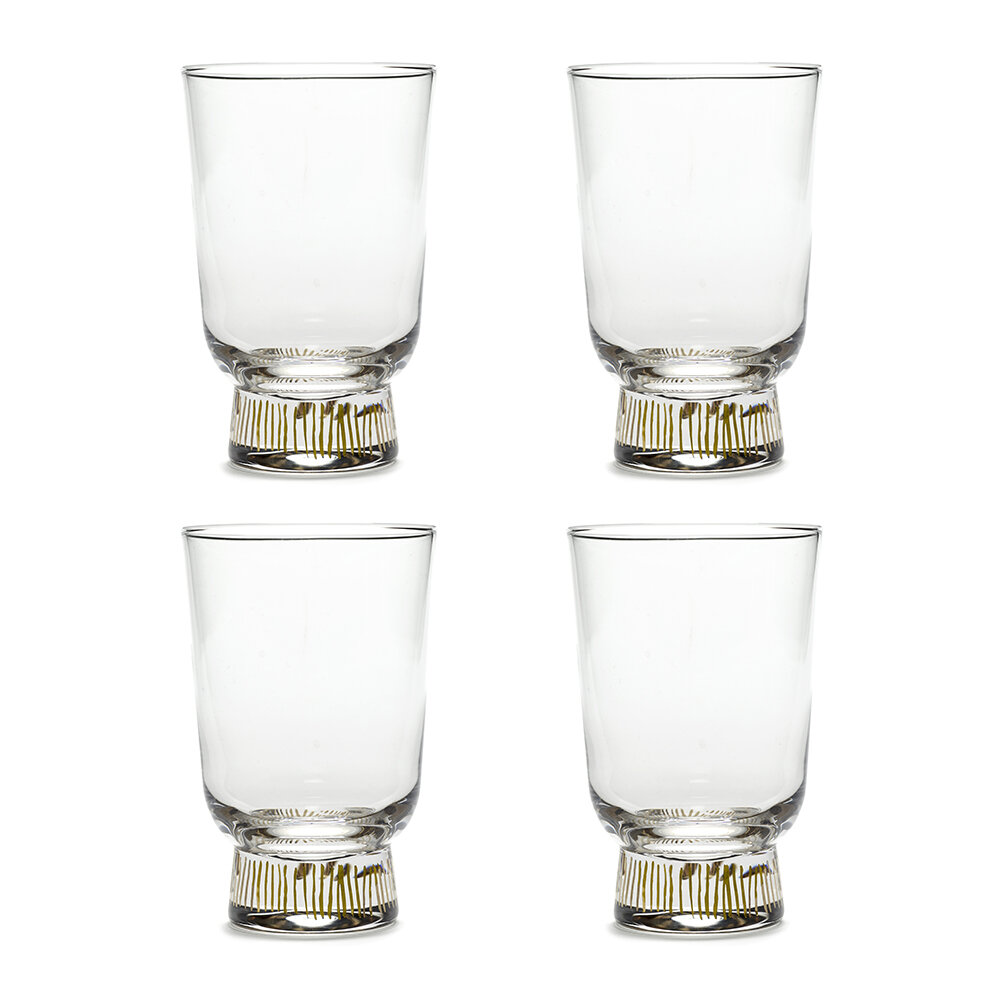 Ottolenghi For Serax - Feast Stripes Glass - Set of 4 - Gold