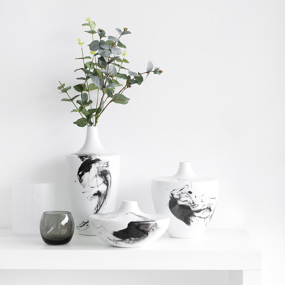 A by Amara - Warren Vase - White