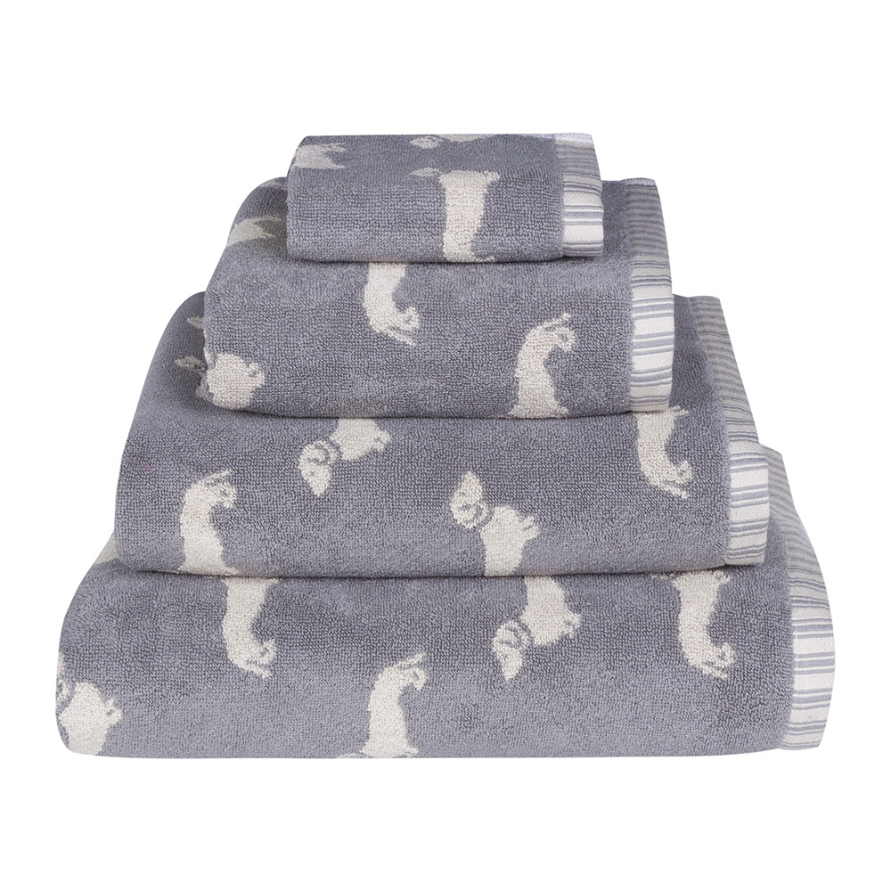 Wayfair's extensive selection of gray and silver bath towels will delight even the most selective buyers. Whether you are searching for towels with a geometric design to outfit your new modern bathroom or a set of dainty silver hand towels to give your downstairs bathroom a softer look, Wayfair has a lovely assortment of towels to add to your bath.
