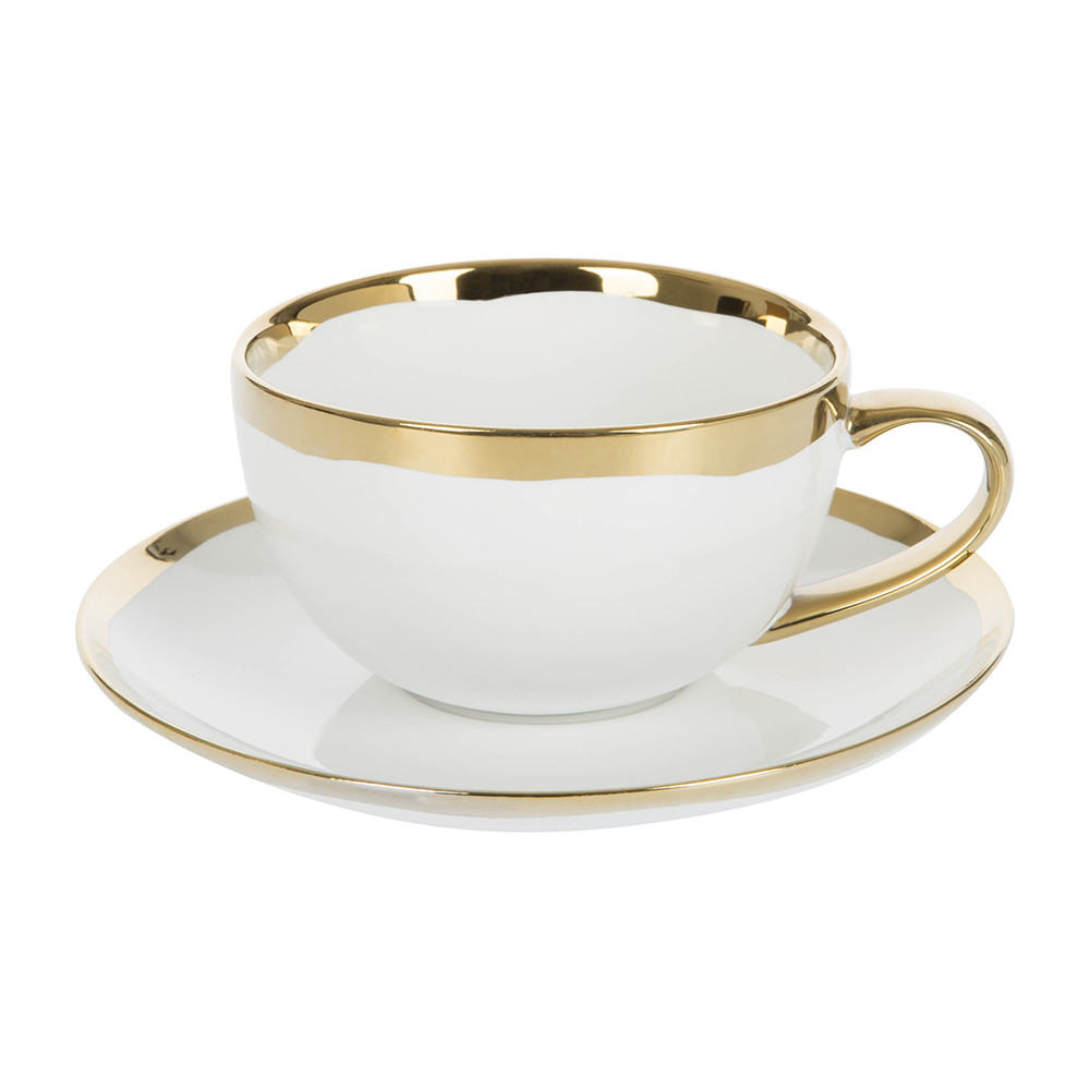 Canvas Home - Dauville Cup  Saucer - Gold