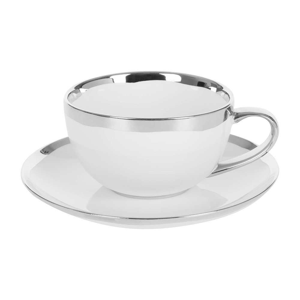 Canvas Home - Dauville Cup  Saucer - Platinum