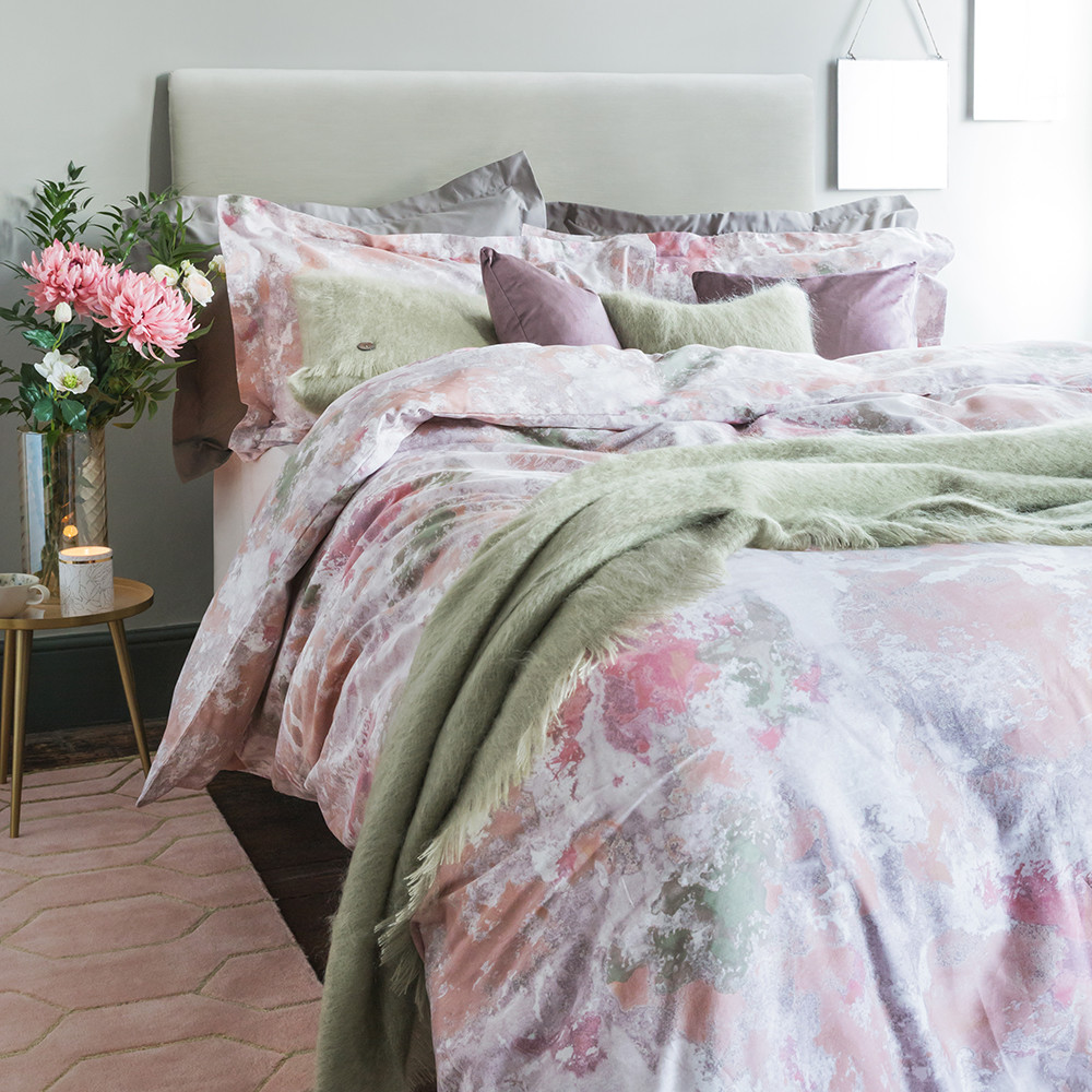 A by Amara  Watermouth 300 Thread Count Duvet Cover  Double