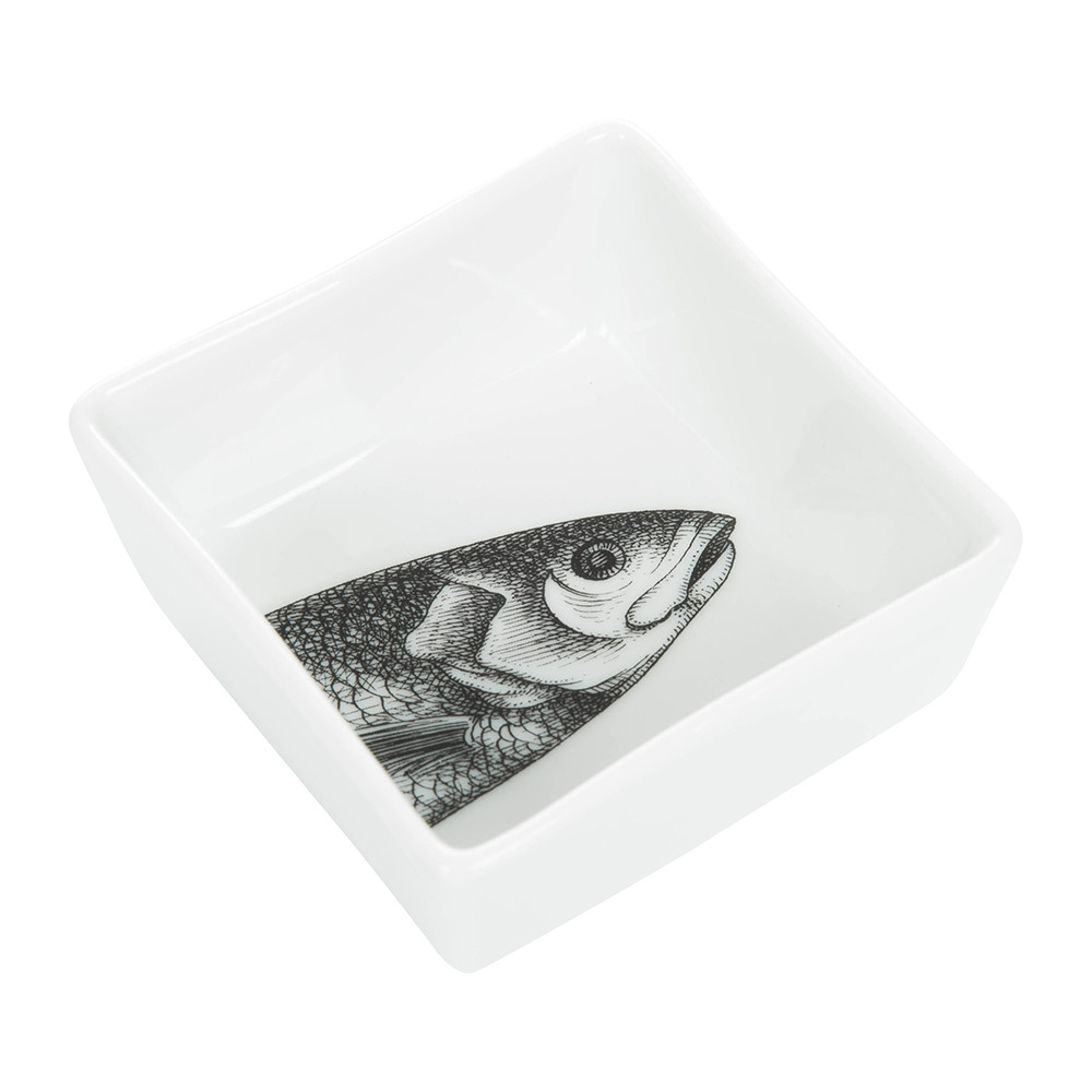 Fornasetti - Appetizer Set - Pesci - Black/White