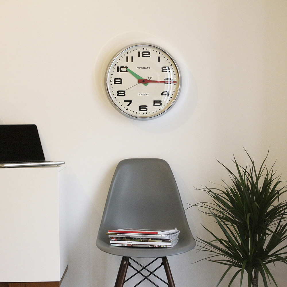 Buy Newgate Clocks Brixton Clock Chrome Amara